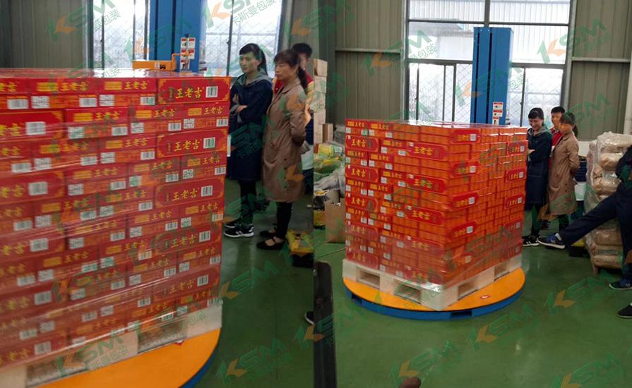 饮料行业缠绕包装机案例